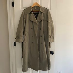 London Fog Green Trench Coat 12P